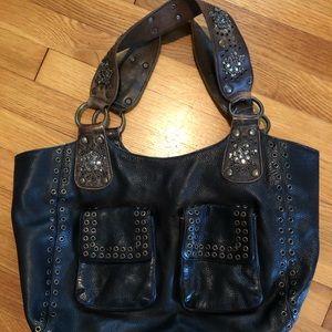 Vintage Betsey Johnson Grommet & Beaded Bag